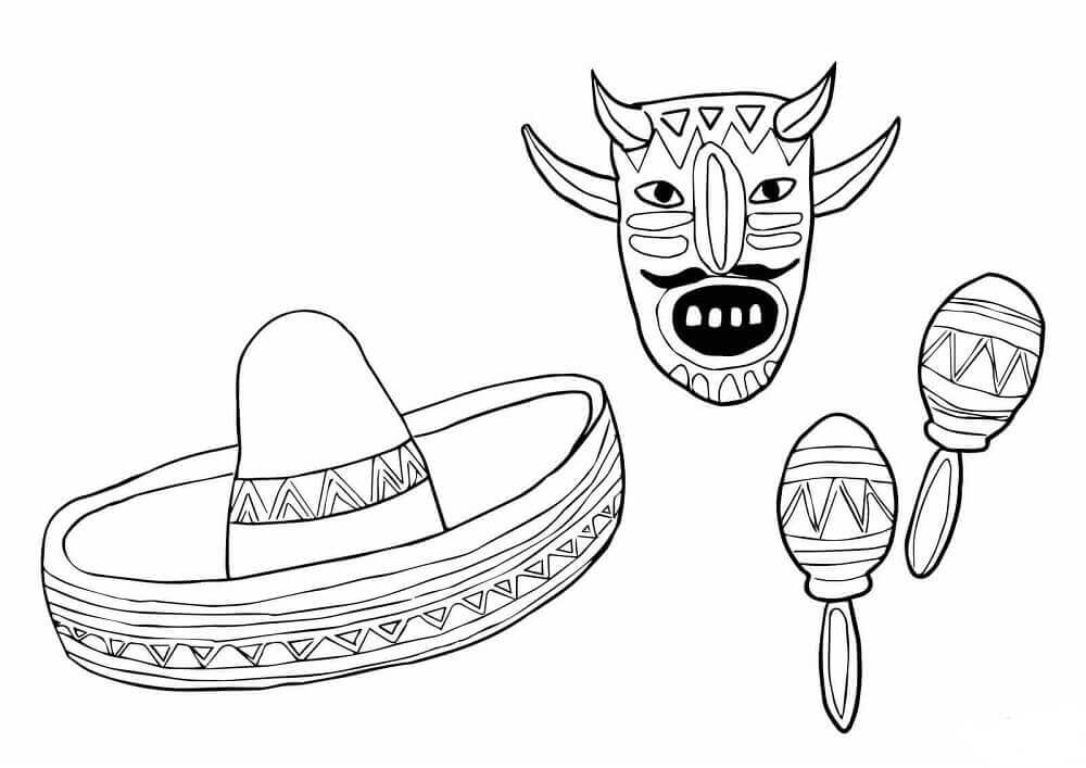 Cinco De Mayo Symbols Coloring Pages
