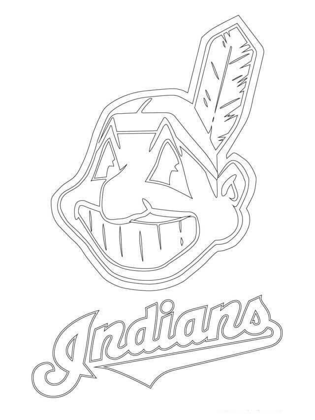 Clevelend Indians MLB Coloring Pages