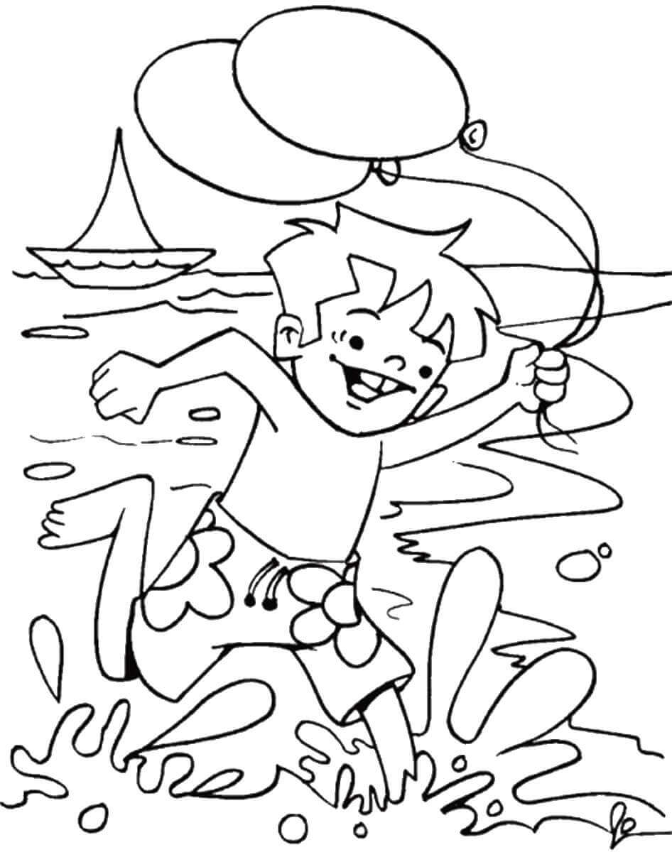 Coloring Pages Of Beach