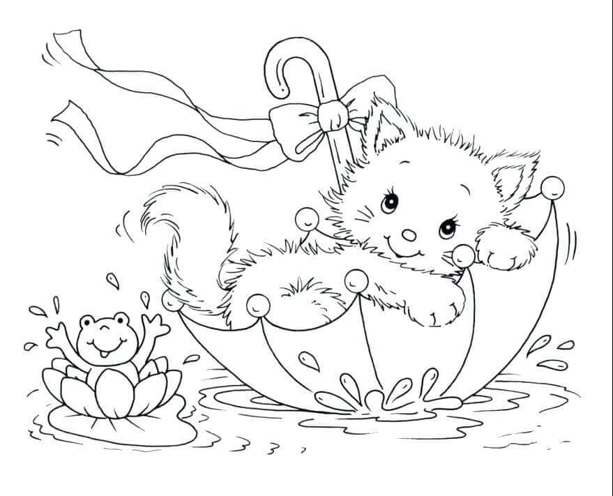 Coloring Pages Of Kitten