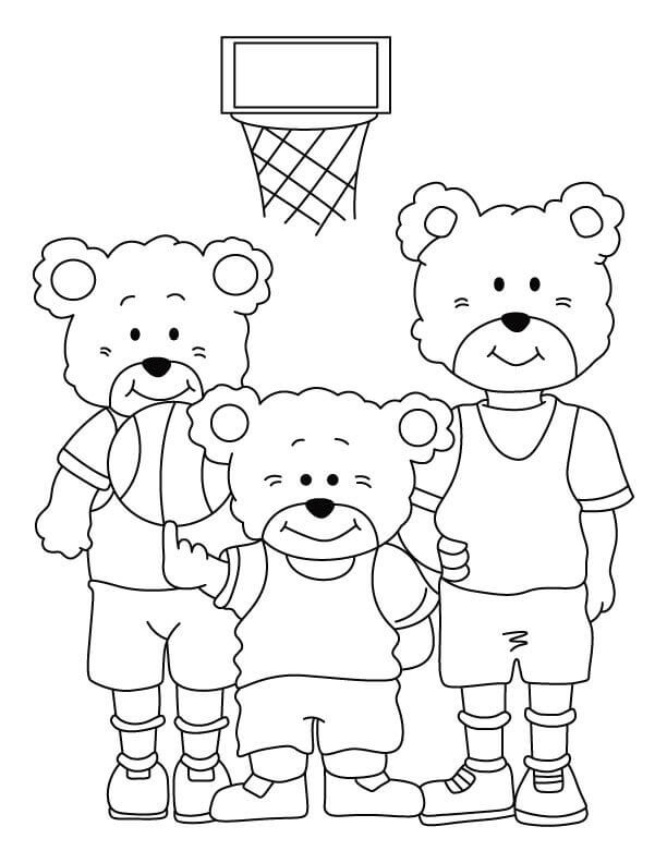 Cute Basketball Coloring Pages