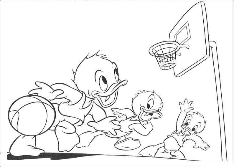 Disney Basketball Coloring Pages