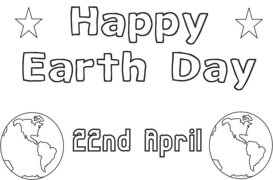 Earth Day 2018 Coloring Pages