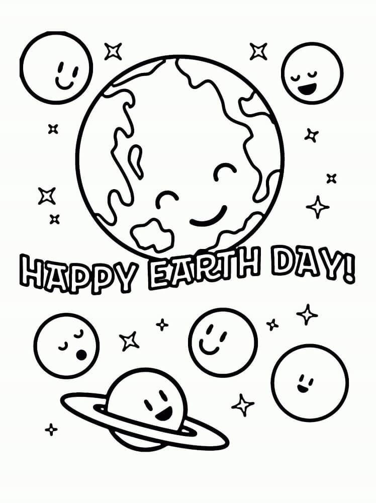 Earth Day Coloring Pages For Toddlers