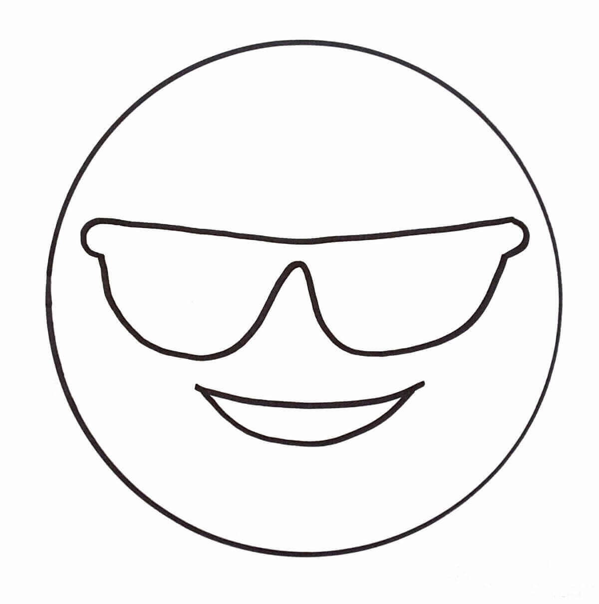Emoji Coloring Pages Cool Emoji