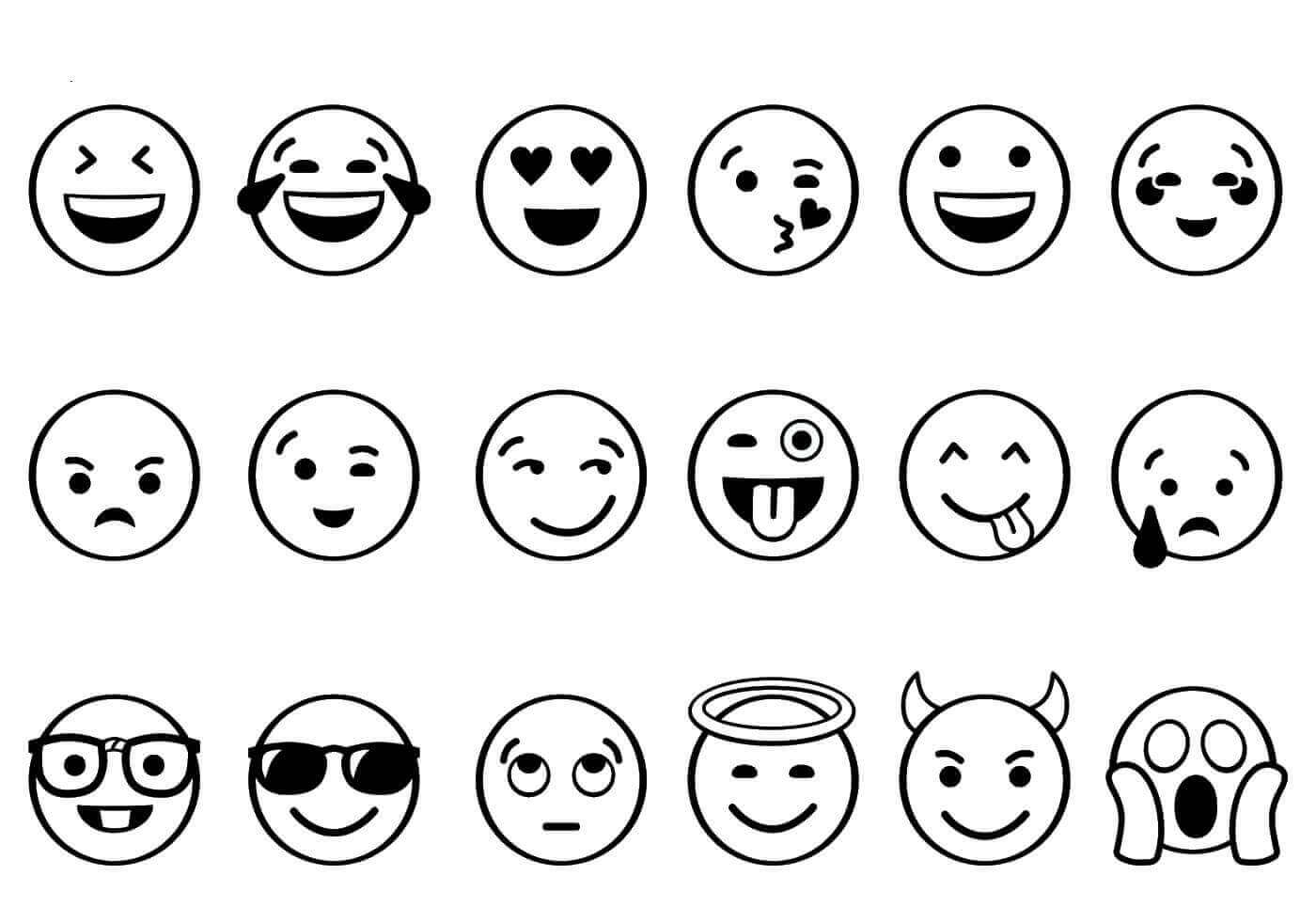 It's just a graphic of Simplicity Print Out Emoji