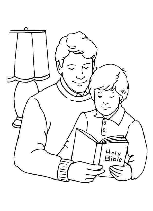 Father And Son Fathers Day Coloring Pages