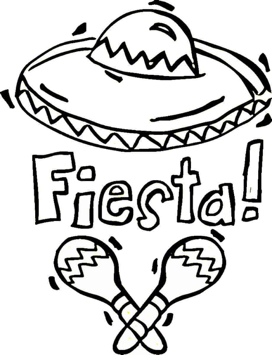 Fiesta Coloring Pages