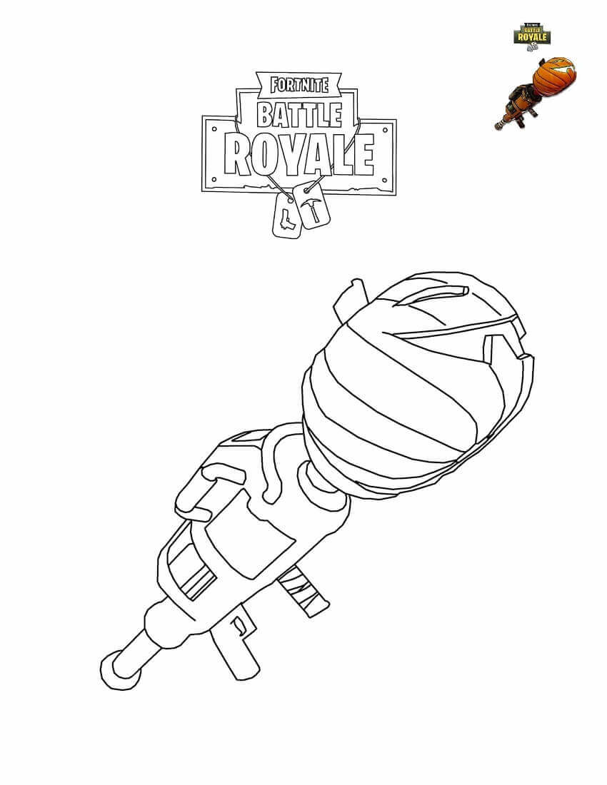 Fortnite Pumpkin Launcher Coloring Page View And Print Full Size