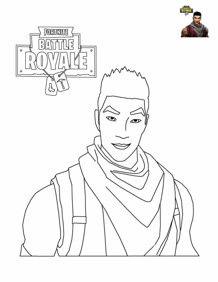 Fortnite Shock Trooper Coloring Page