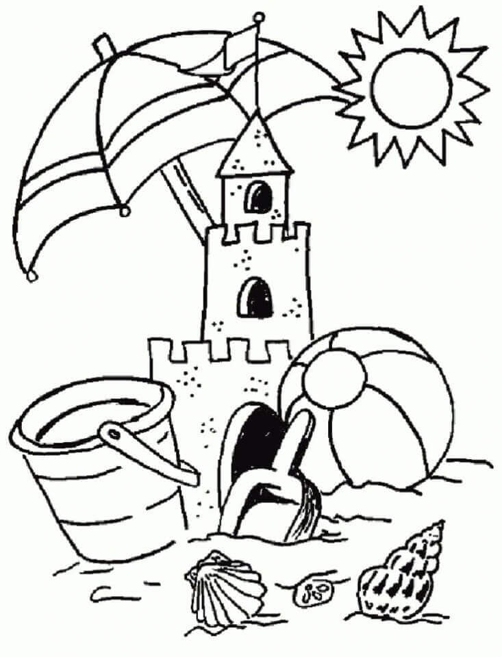 Free Beach Coloring Pages To Print