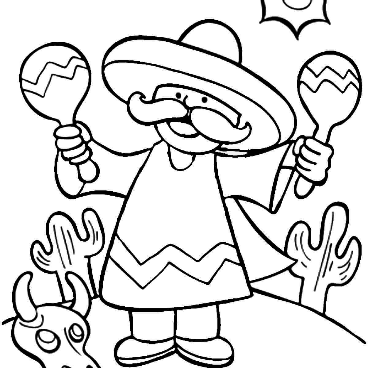 cinco de mayo free coloring pages | 35 Free Printable Cinco de Mayo Coloring Pages