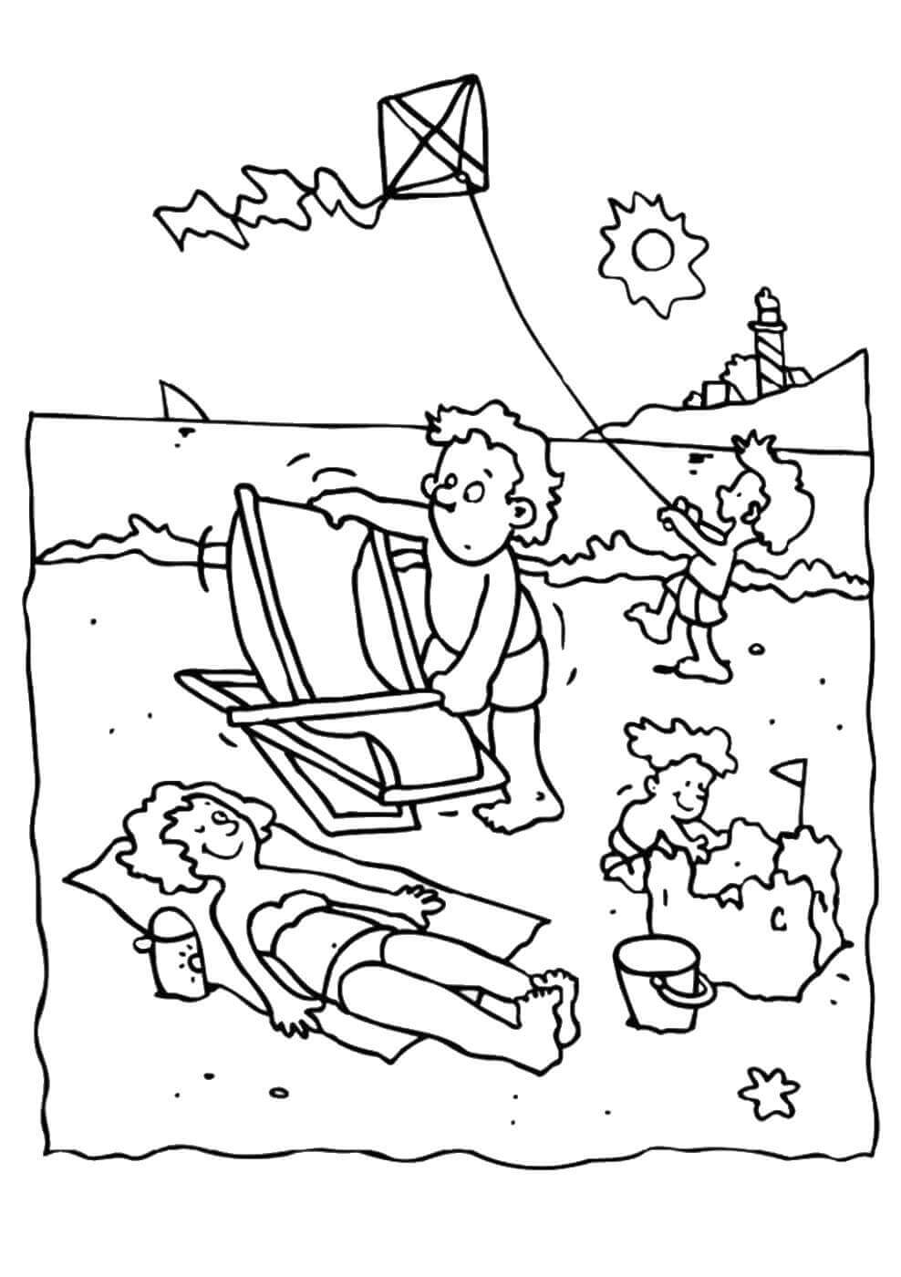 beach coloring pages - photo#19