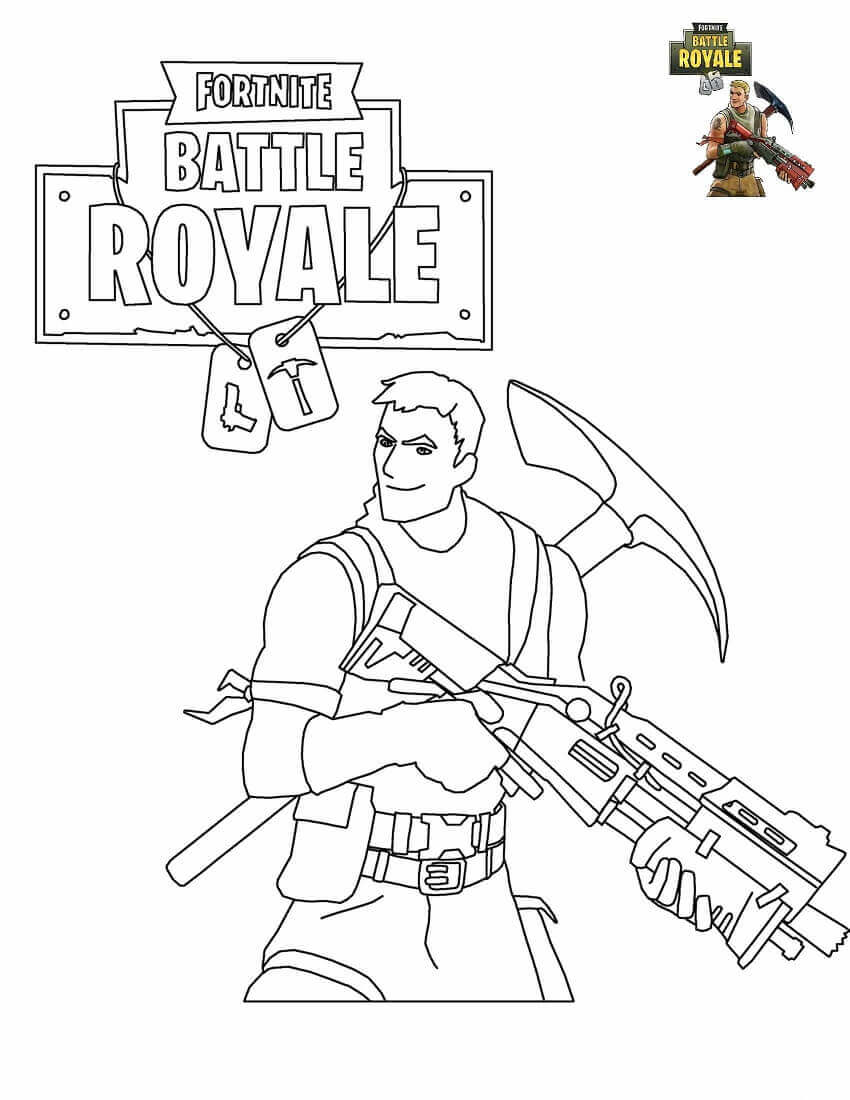 Free Printable Fortnite Coloring Pages Survivalist View And Print Full Size