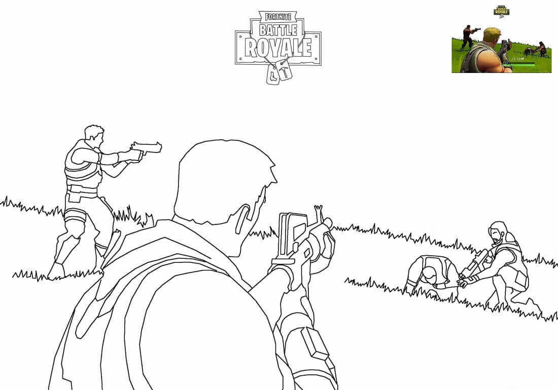 Fornite Battle Royale Coloring Page Free Printable Fortnite Pages