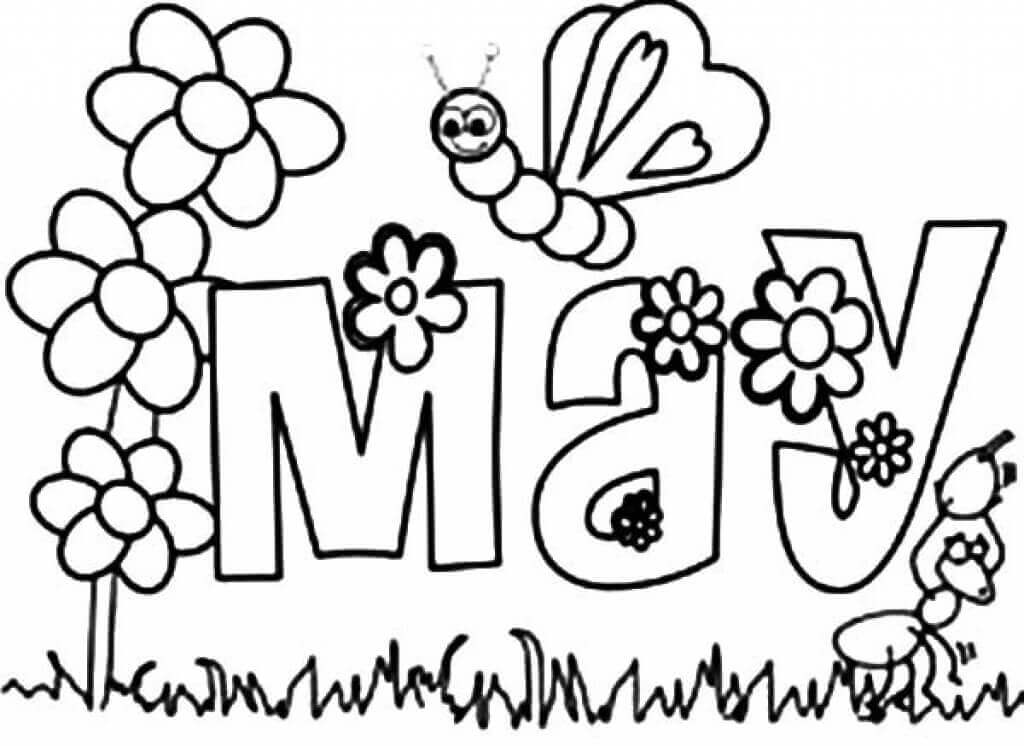 may coloring pages printable free printable may coloring pages may day coloring pages