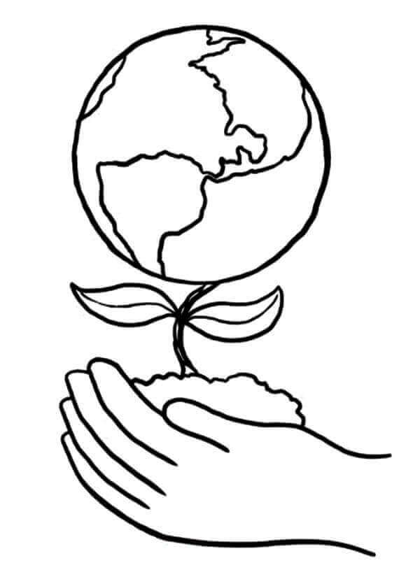 Free Printable National Arbor Day Coloring Page