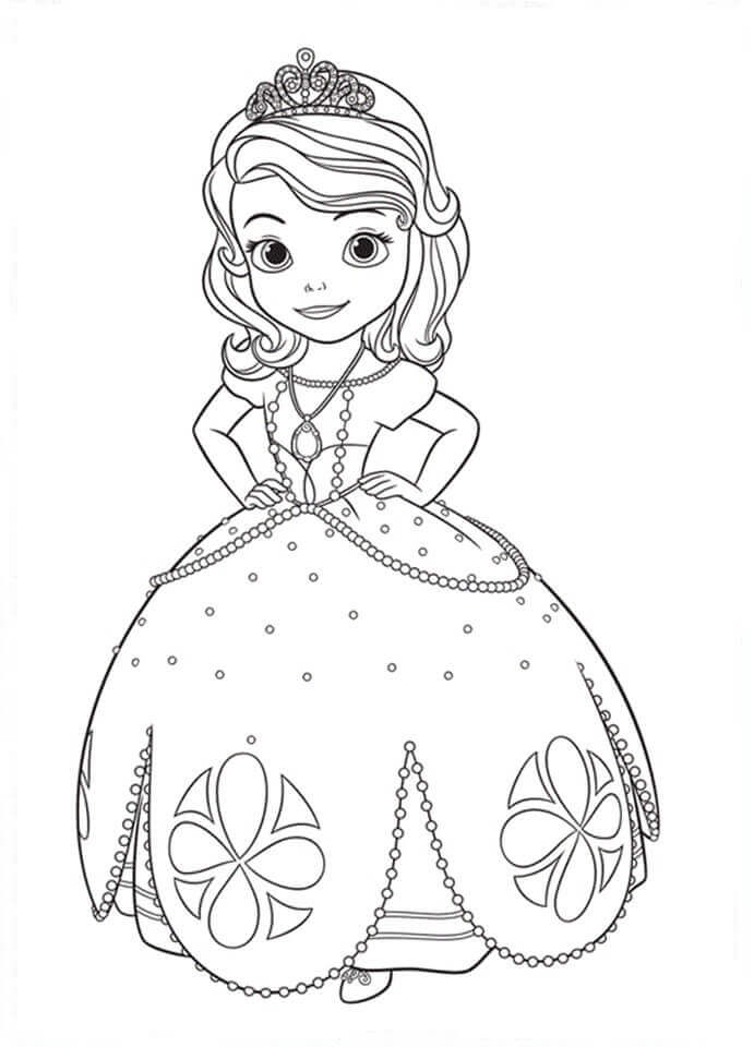Free Printable Sofia The First Coloring Pages