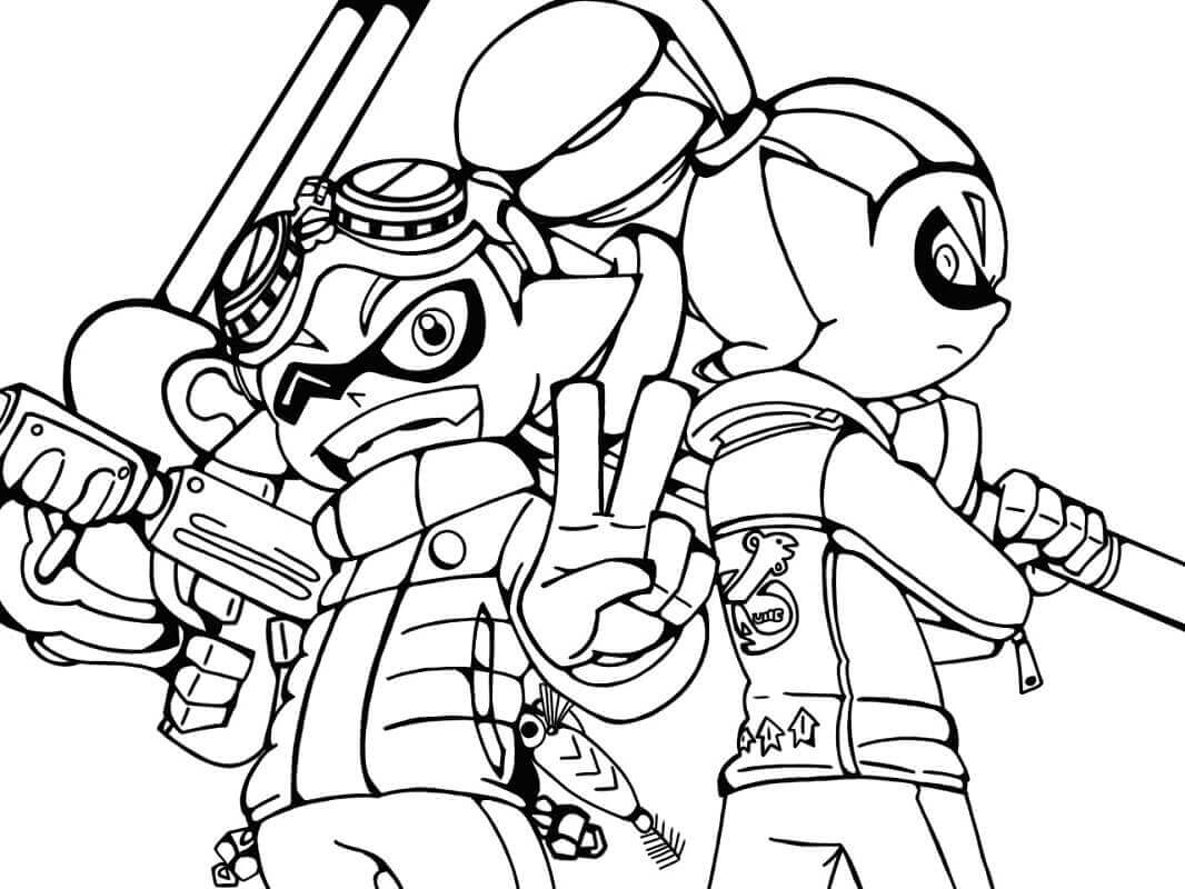 splatoon inkling coloring pages sketch coloring page