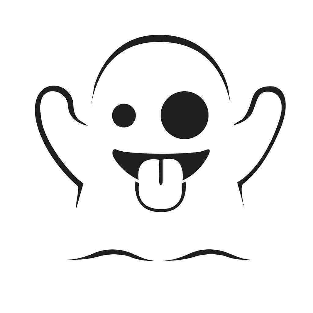 Ghost Emoji Coloring Sheets To Print