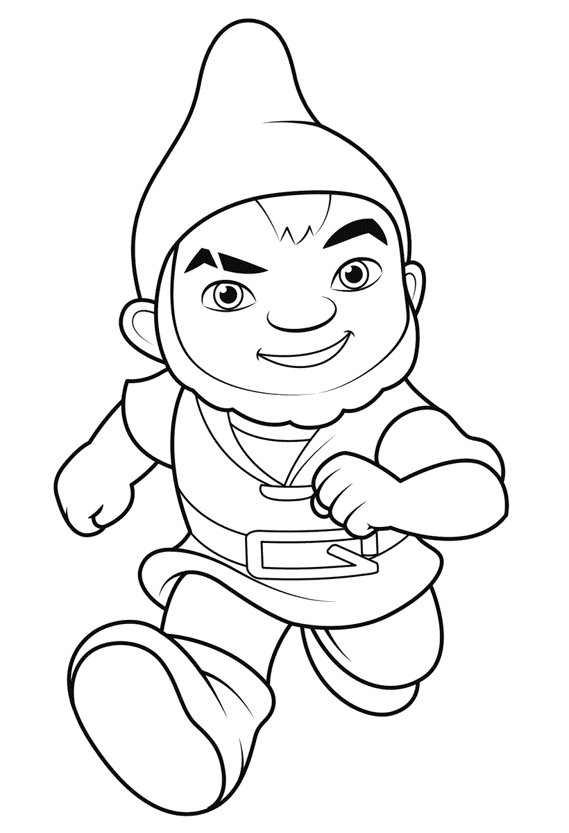 Gnomeo from Sherlock Gnomes Coloring Page