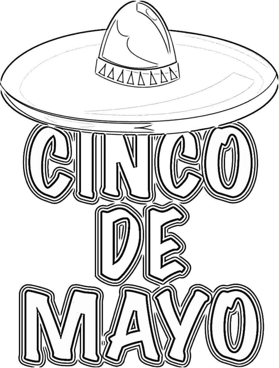 Happy Cinco De Mayo Coloring Pictures