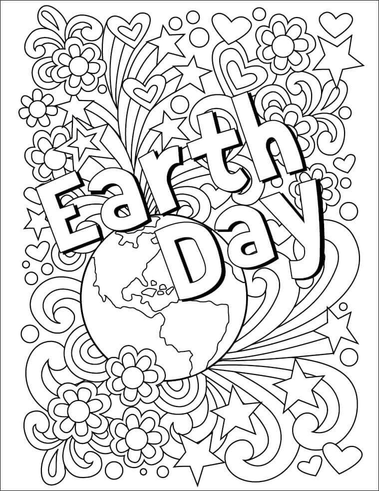 Happy Earth Day Coloring Pages To Print