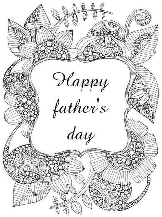 Happy Fathers Day Coloring Pages For Adults