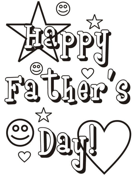 Happy Fathers Day Coloring Sheets To Print