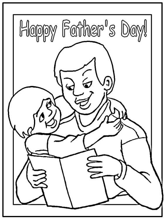 Happy Fathers Day Gift Coloring Pages