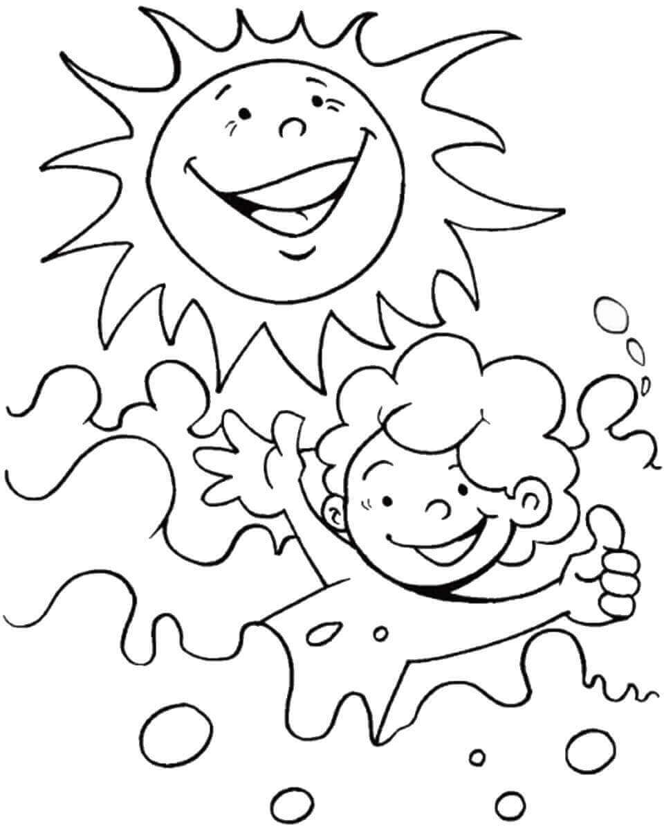summertime coloring pages - photo#11