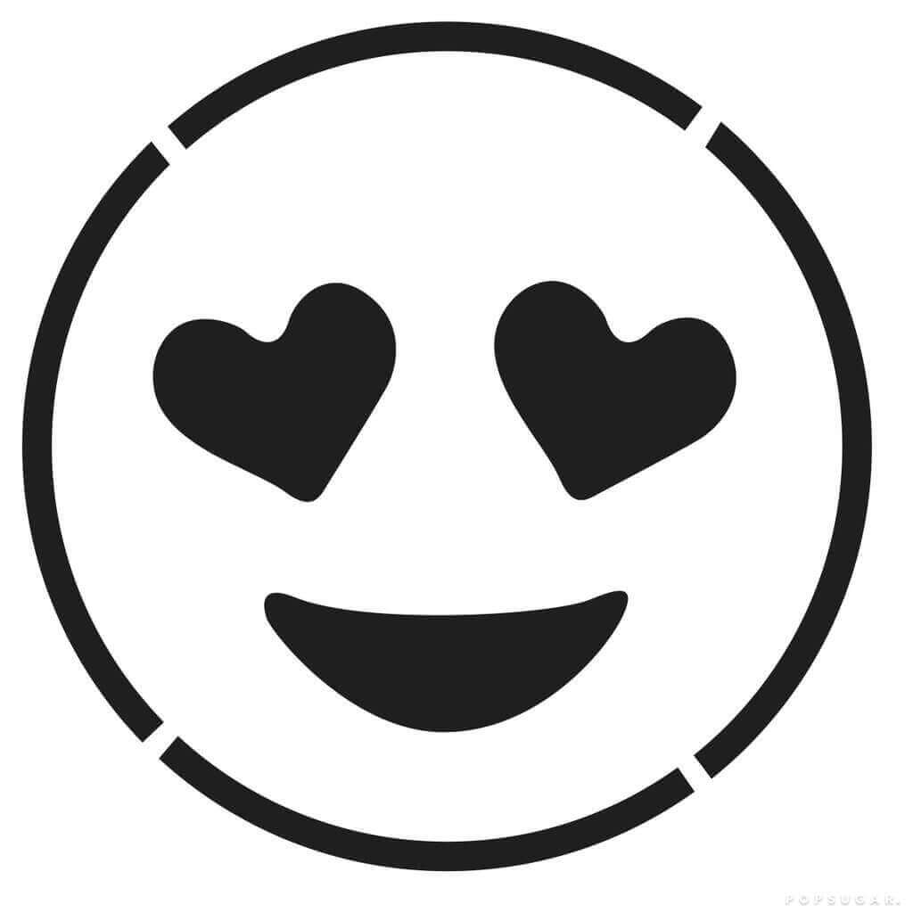 Full Page Kiss Face Emoji Coloring Page