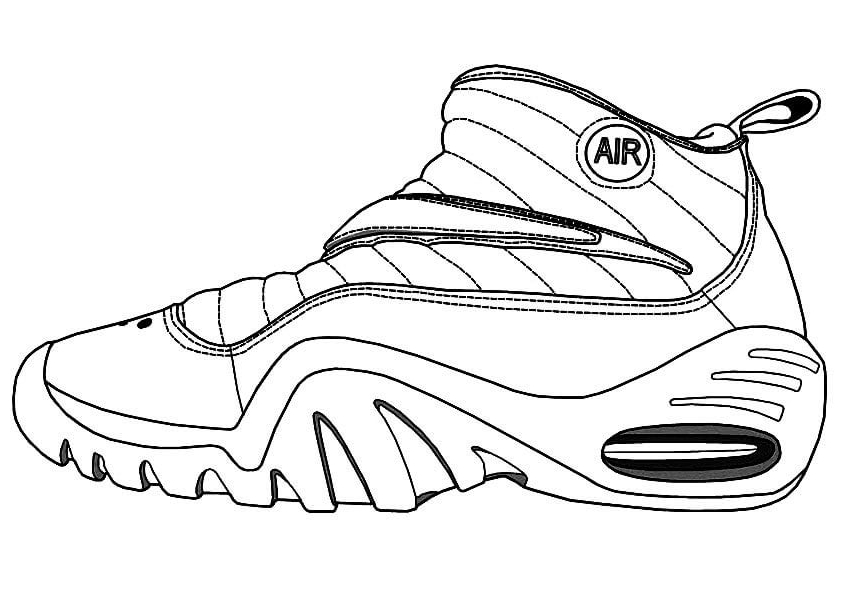 Jordan Basketball Shoes Coloring Page
