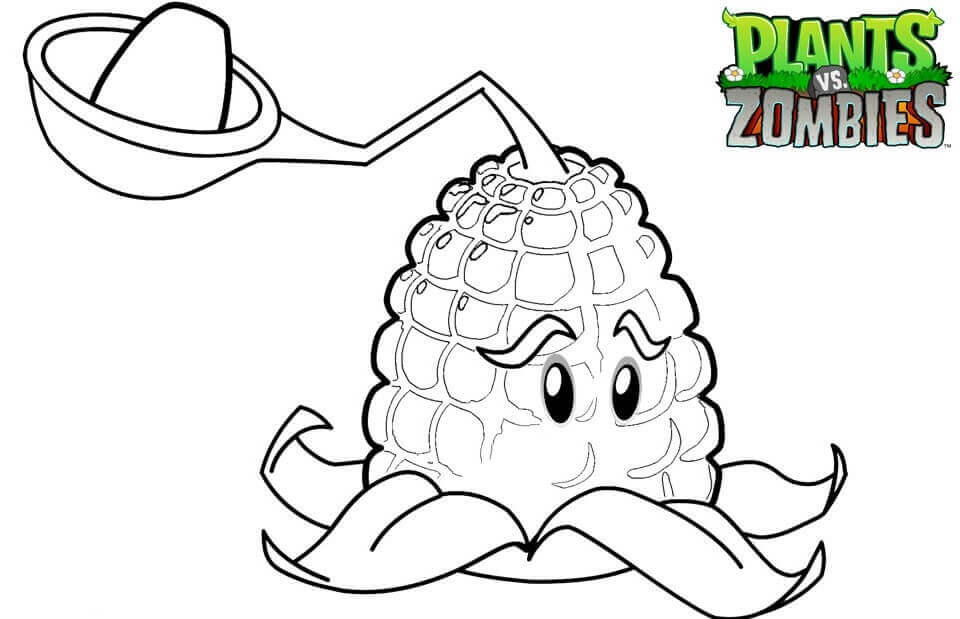 Kernel Pult From Plants Vs Zombies Coloring Page