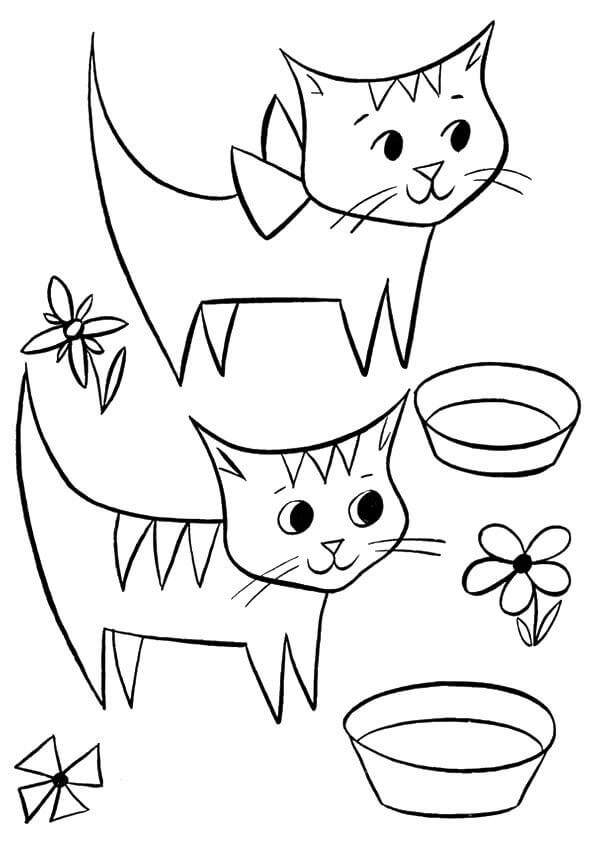 Kitten Coloring Pages For Preschoolers