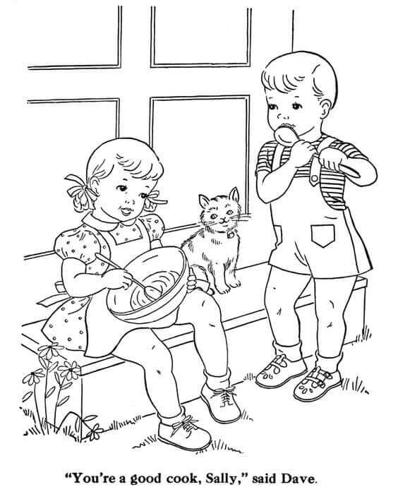 Kitty Coloring Pages For Kids