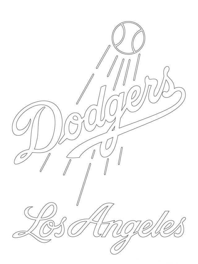 Los Angeles Dodgers MLB Coloring Sheets To Print