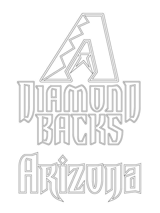 MLB Coloring Pages Arizona Diamond Backs