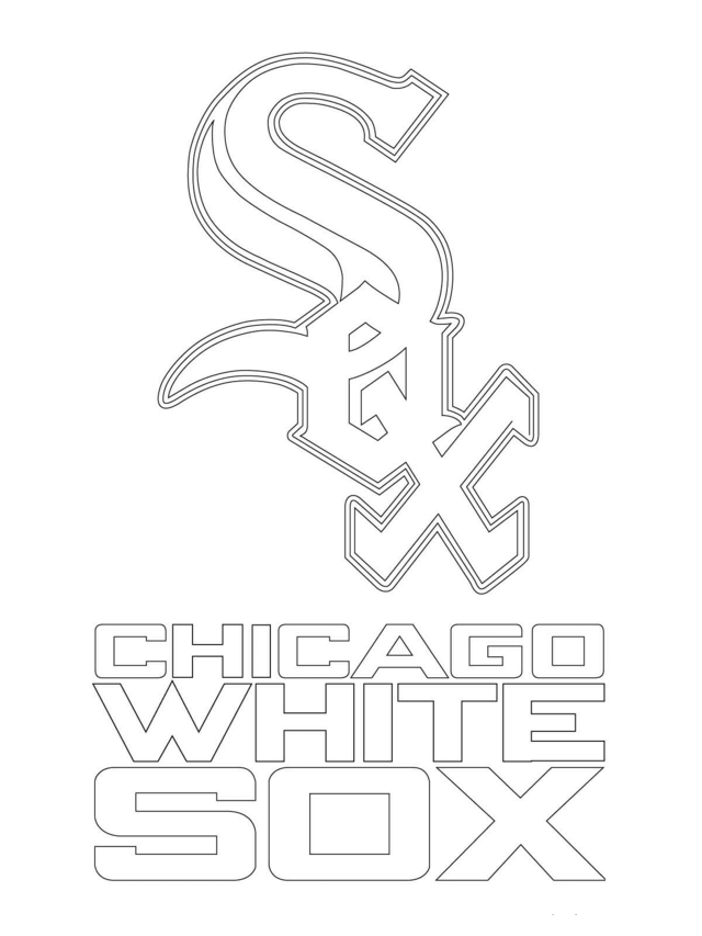 MLB Coloring Pages Chicago White Sox