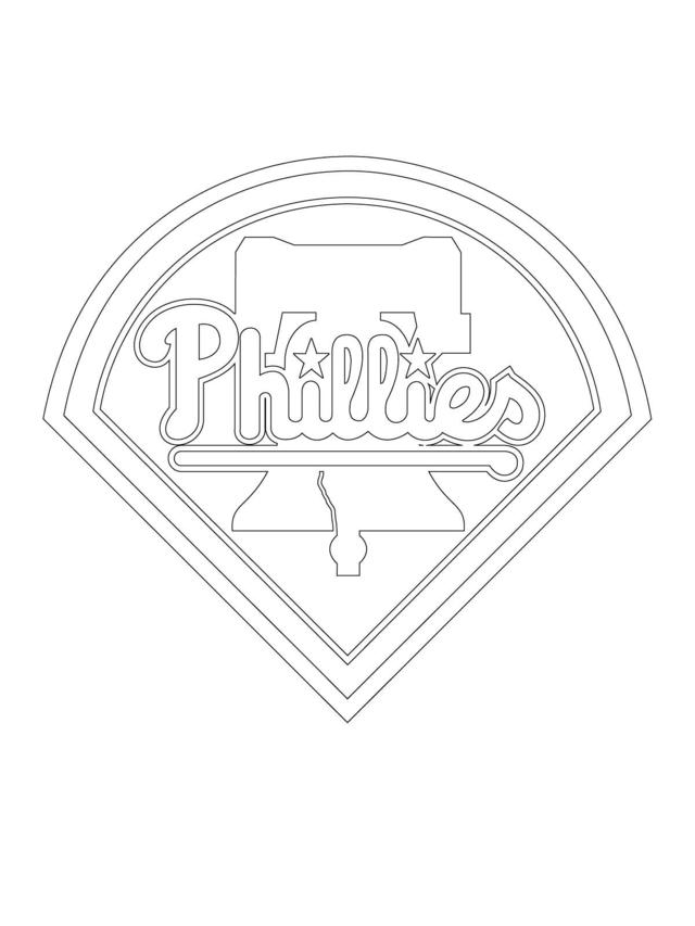 MLB Coloring Sheets Philadelphia Phillies