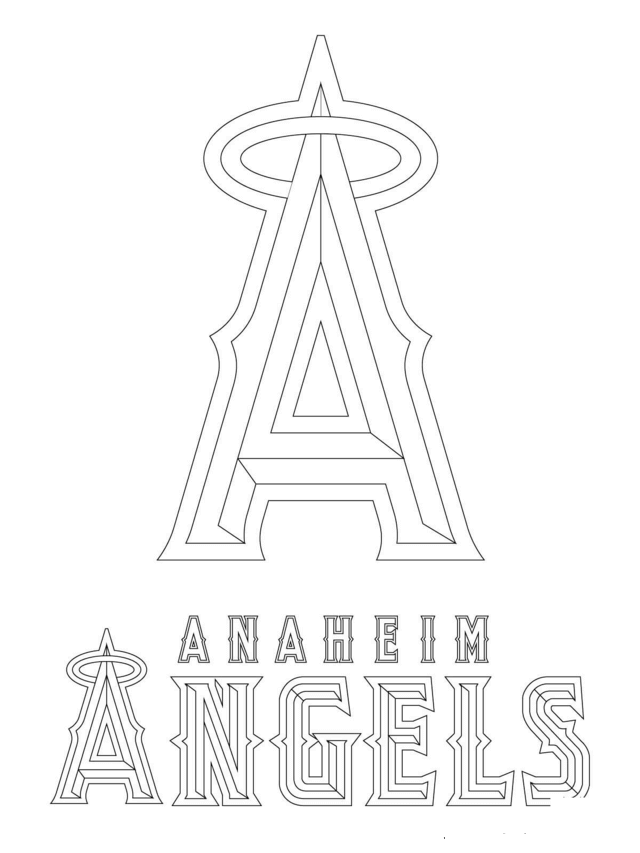 MLB Logo Coloring Pages Anaheim Angels Logo