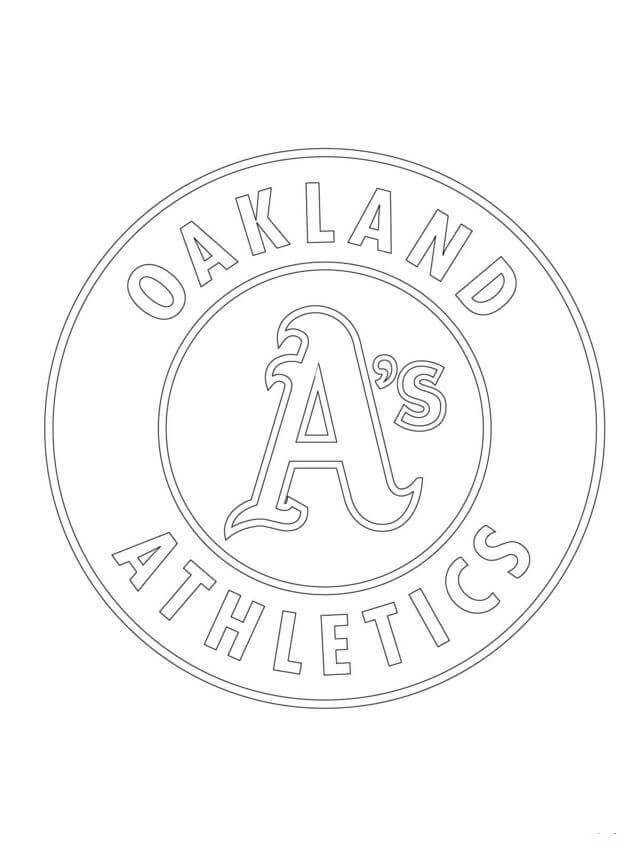 Major League Baseball Logo Coloring Pages Oakland Athletics