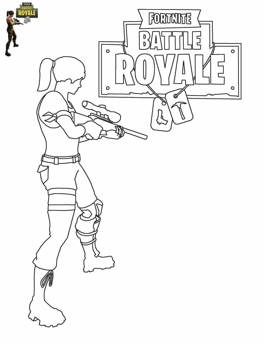 34 Free Printable Fortnite Coloring
