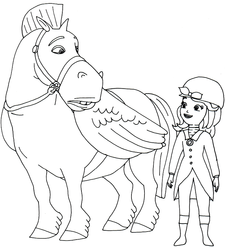 Minimus the Great and Sofia the First Coloring Pages