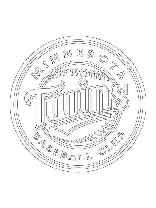 Minnesota Twins MLB Coloring Pages