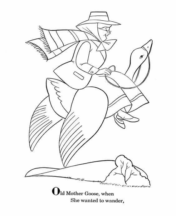 Mother Goose Day Coloring Pages
