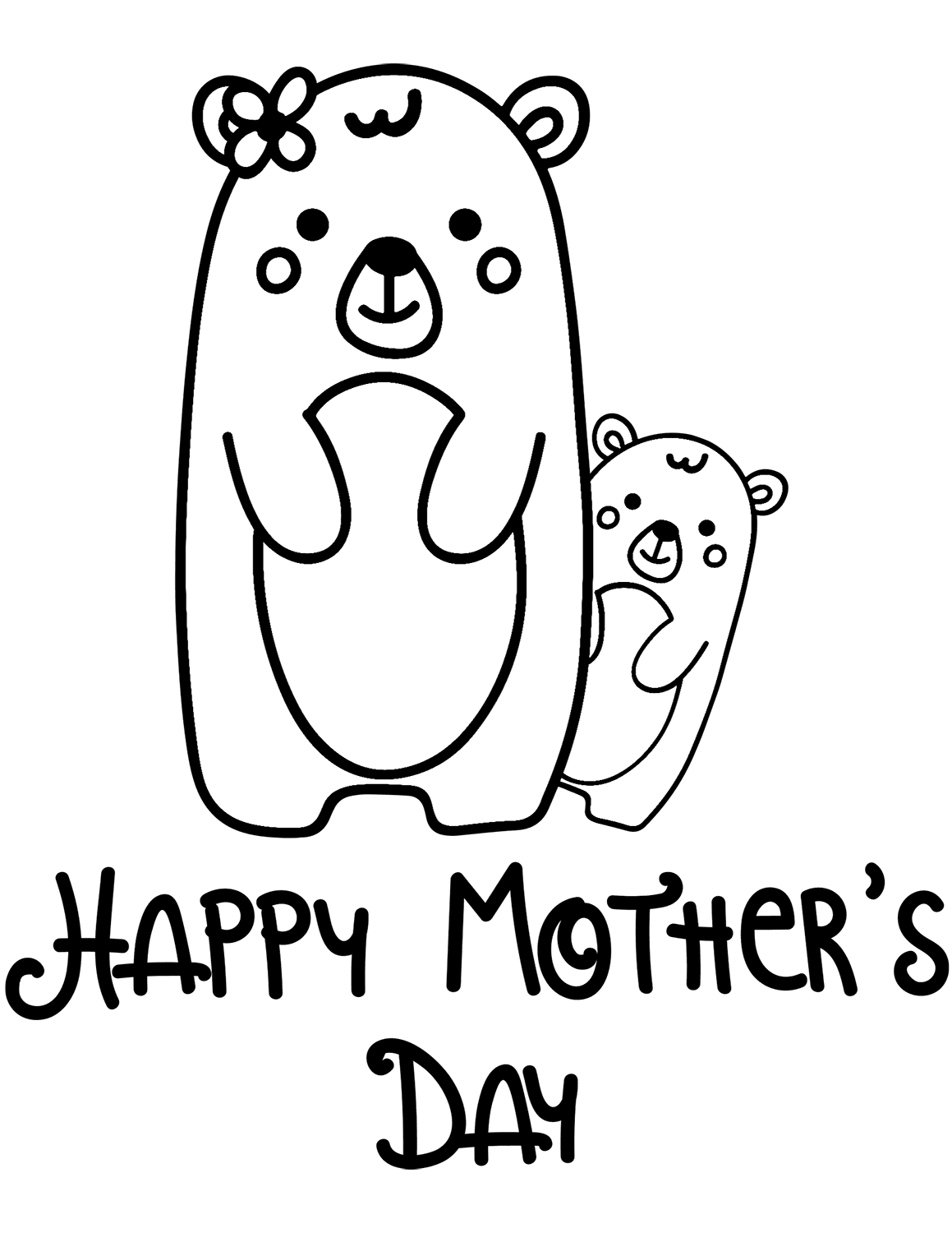 Elegant Happy Motheru0027s Day Greetings: Mothers Day Coloring Pages ...