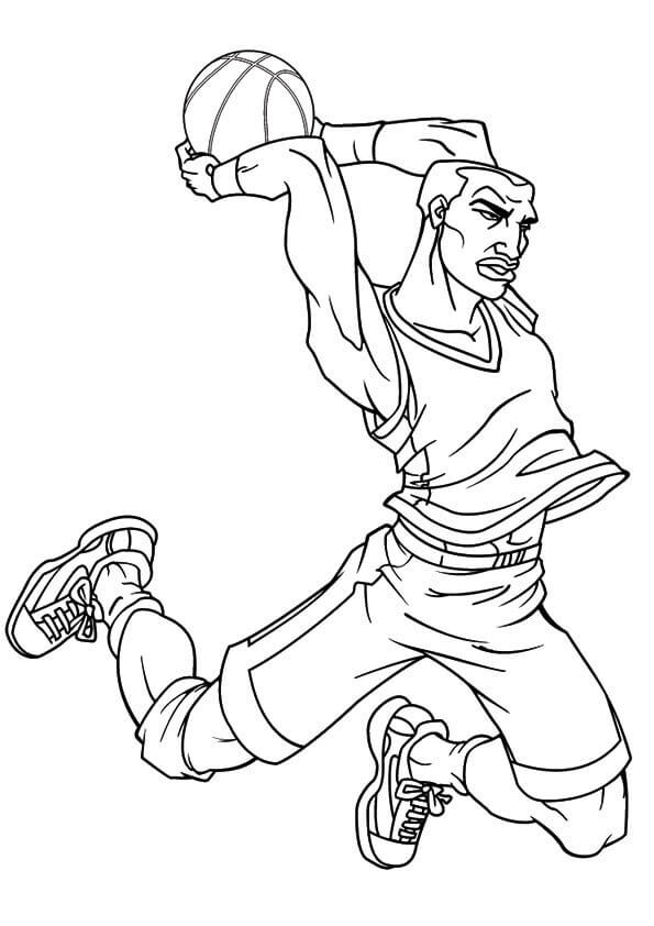 NBA Basketball Coloring Page