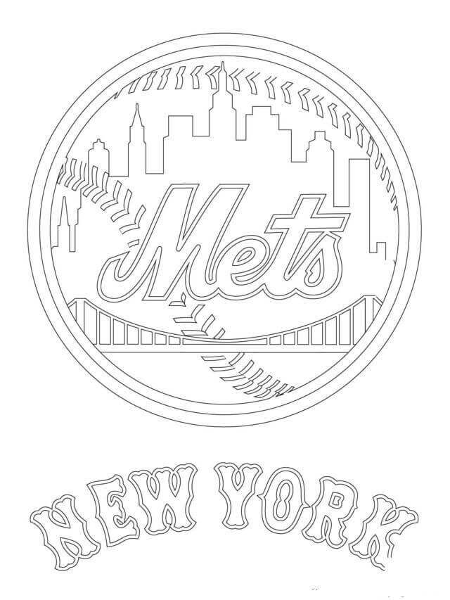 New York Mets MLB Coloring Pages