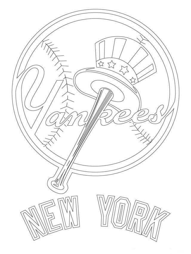 Free Printable Major League Baseball Mlb Coloring Pages